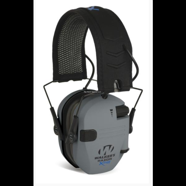 Walker's GWP-XDRSEM-GY Razor Digital X-Trm Muff With Cooling Pads & Moisture Wicking Headband - Grey