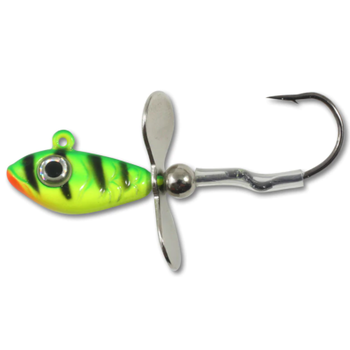 Northland Whistler Jig. 1/4oz UV Fire Tiger 2-pk