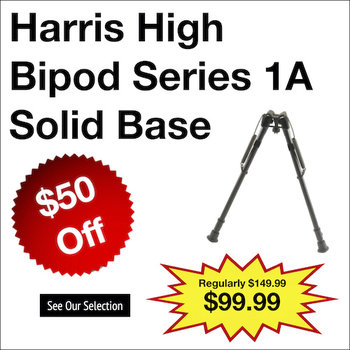 Harris High Bipod Series 1A Solid Base