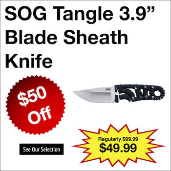 "SOG Tangle 3.9"" Blade Sheath Knife"