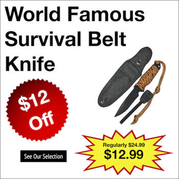 World Famous Survival Belt Knife