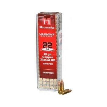 Hornady 83212 Rimfire Varmint Express Ammo 22 LR, 40 Gr, HP, 100 Rnd, Boxed