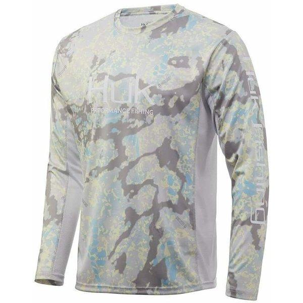 Huk Icon X Long Sleeve Shirt, Kryptek Sundarban Camo, L (H1200233-965-L)