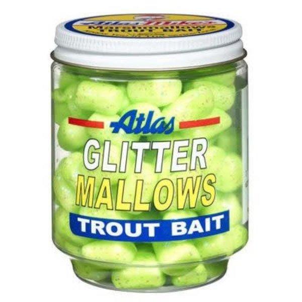 Atlas Glitter Mallows. 1.5oz. Jar. Chartreuse Cheese