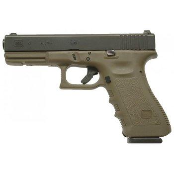 Glock 17 Gen 5 HGA 9mm 144 MM BBL FS OD Green Semi Auto Pistol