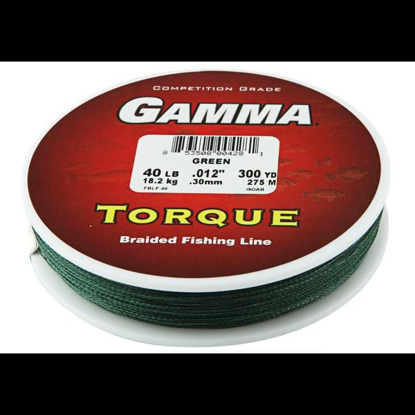 Gamma Torque Braided Line 40lb 150yds Green