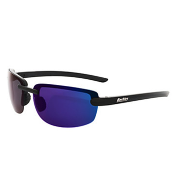 Berkley Fairfax Sunglasses Matte Black/Smoke/Blue Mirror