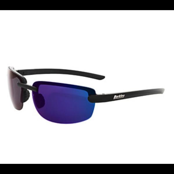 Berkley Fairfax Sunglasses Matte Black/Smoke/Blue Mirror