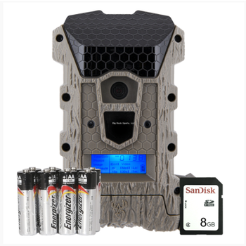 Wildgame Innovations WGICM0670 Game Camera, Wraith 16MP Lightsout Combo, Includes 8 Batteries, 8GB SD card