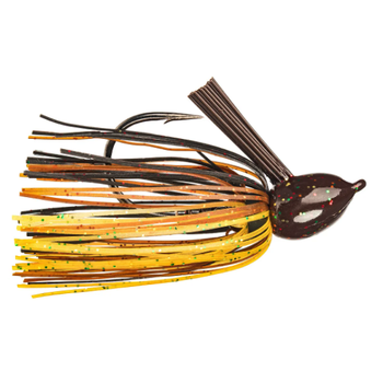 Strike King Hack Attack Fluorocarbon Flipping Jig. 1/2oz Black Brown Amber