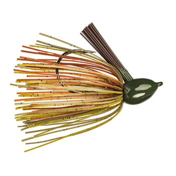 Strike King Hack Attack Fluorocarbon Flipping Jig. 1/2oz Green Pumpkin Craw