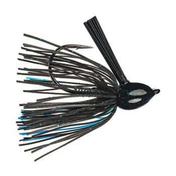 Strike King Hack Attack Fluorocarbon Flipping Jig. 1/2oz Black Blue