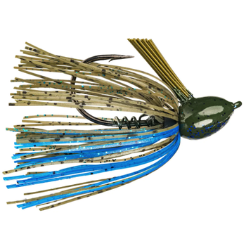 Strike King Hack Attack Fluorocarbon Flipping Jig. 1/2oz Okeechobee Craw