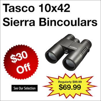 Tasco 10x42 Sierra Bincoulars