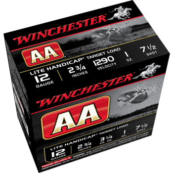 "Winchester AA Lite Handicap Target Loads 12 Gauge 2-3/4"" #7-1/2 Shot Case of 250 #AAHLA127"