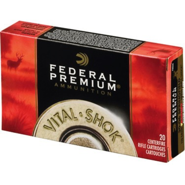 Federal Premium Vital Shok Ammo 338 Win Mag Nosler Partition 250gr 2660fps 20 Rounds