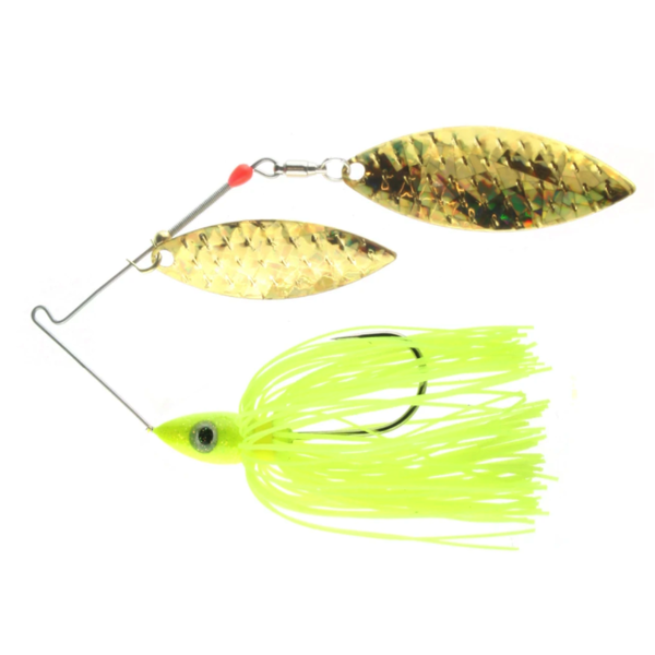 Nichols Pulsator Shattered Glass Hologram 1/2oz Chartreuse Gold. Double Willow