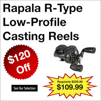 Rapala R-Type Low-Profile Casting Reels