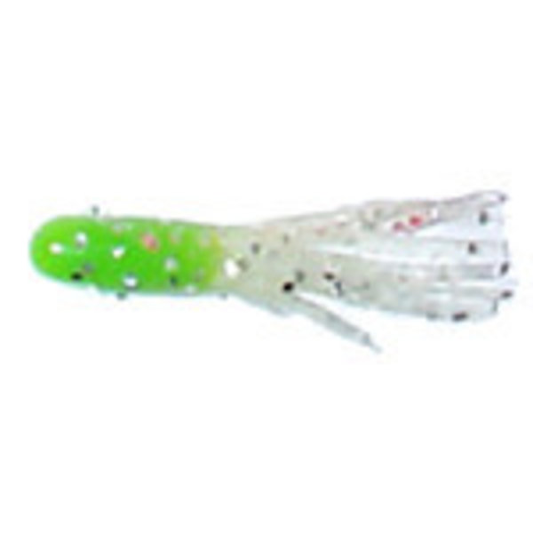 "Phenix 1.5"" Salty Tube. Lime Core/Clear Silver Sparkle"