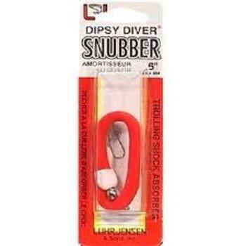 """Luhr Jensen Dipsy Diver Snubber. 6"""" Fire"""