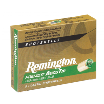 "Remington Premier AccuTip Shotshells 20ga 260gr 2-3/4"" Sabot Slug 5 Rounds"