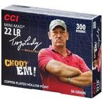 "CCI Mini Mag 22 LR Ammo, 36 Gr, CPHP Troy Landry Signature ""Choot Em"" 300-Rounds"