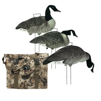 Tanglefree Lesser Canada Skinny Decoys 60 Pack w/Flocked Heads & Decoy Bag