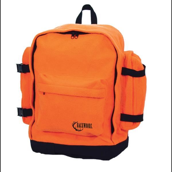 Backwoods Orange Backpack Silent Fleece 25L