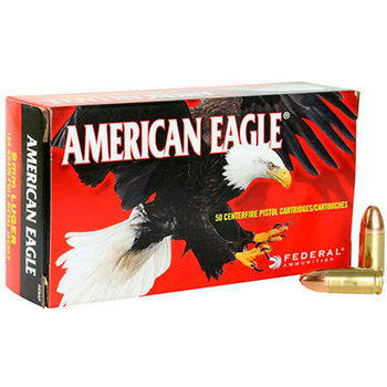 Federal American Eagle 9mm Luger 124Gr FMJ Ammunition
