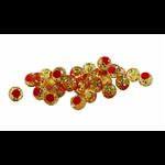 Cleardrift Tackle Glitter Bomb 8mm Natural Orange Red Dot 30-pk