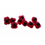 Cleardrift Tackle Embryo Egg Clusters 16mm Cherry Red Black Dot 10-pk