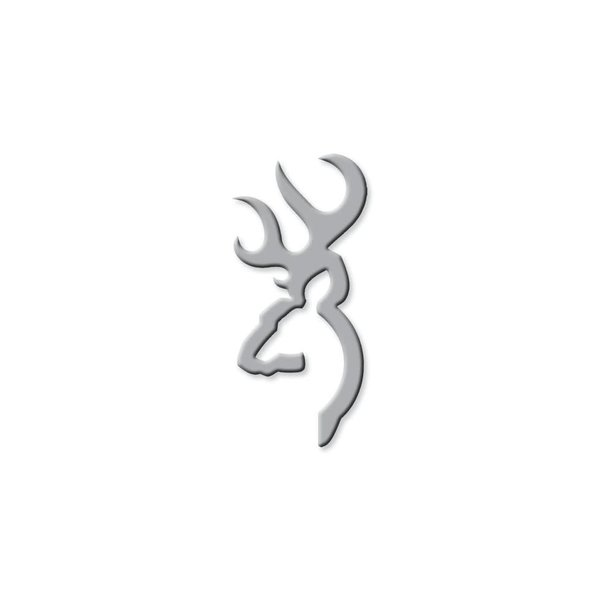 "Browning 3D Buckmark Silver 6"" Decal"