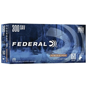 Federal Federal Power-Shok Rifle Ammo 300 Sav 150gr Soft Point 20 Rounds