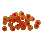 Cleardrift Tackle Embryo Soft Bead 8mm Yellow Mustard Hot Pink Dot 30-pk
