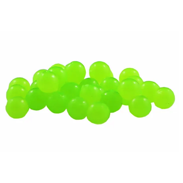 Cleardrift Tackle Soft Bead 8mm Clear Lime 30-pk