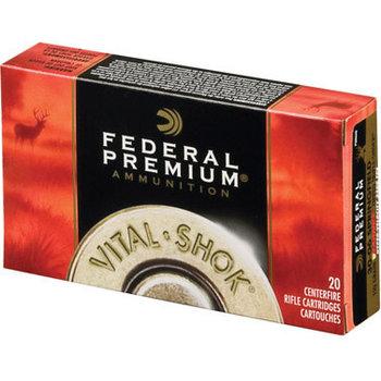 Federal Premium Vital-Shok Rifle Ammunition P270E, 270 Winchester, Nosler Partition, 150 GR, 2850 fps, 20 Rd/bx