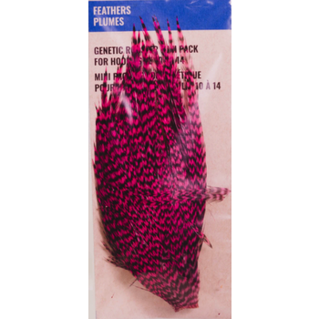 Shor Genetic Rooster Mini Pack. Hooks 2-6 Grizzly Pink