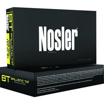 Nosler 40065 BT Ballistic Tip Rifle Ammo 30-30 WIN, Round Nose, 150 Grains, 2390 fps, 20, Boxed