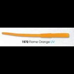 "Luhr Jensen Mini Probe Worm 3"" UV Flame Orange 12-pk"