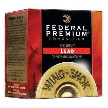 "Federal Premium Wing-Shok 16 Gauge Ammunition 25 rounds 2-3/4"" #6 1-1/4oz Copper Plated Lead Shot 1260fps"