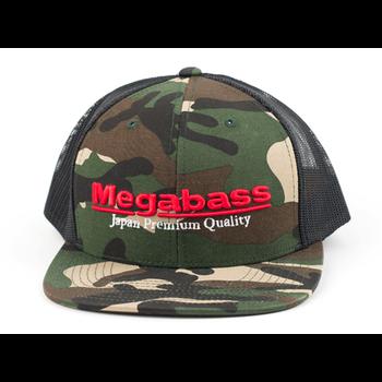 Megabass Classic Trucker Logo Snapback Camo Hat