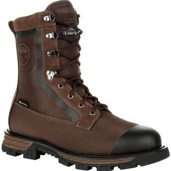 "Rocky Cornstalker NXT Gore-Tex Waterproof 400g Insulated Outdoor 8"" Boot, Bark Brown, 9.5"