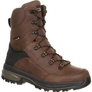 "Rocky Grizzly Waterproof 200g Insulated Outdoor 9"" Boot, Dark Brown, 8"