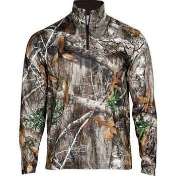Rocky Camo Fleece Zip Shirt, Realtree Edge, XXLR