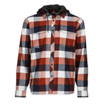 Simms M's ColdWeather Hoody Rusty Red Buffalo Plaid M