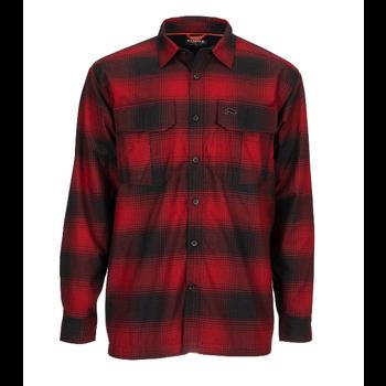 Simms M's ColdWeather LS Shirt Auburn Red Buffalo Blur Plaid M