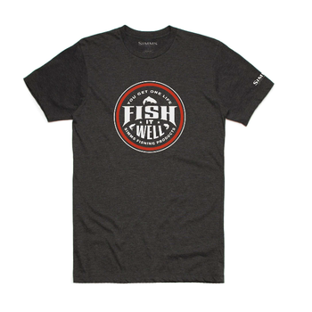 Simms Fish It Well T-Shirt Charcoal Heather XL