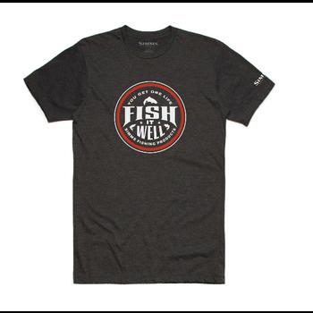Simms Fish It Well T-Shirt Charcoal Heather XXL