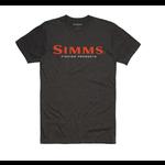 Simms Logo T-Shirt Charcoal Heather XL