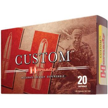 Hornady Custom Rifle Ammunition 8155, 7 mm X 57 mm Mauser, Interlock Spire Point, 139 GR, 2680 fps, 20 Rd/bx